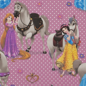 Disney Princess Fabric CAVALOS.33.140