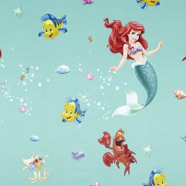 Disney The Little Mermaid Fabric SUNSIREN.45.150