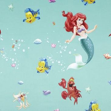 Disney Princess The Little Mermaid Fabric SUNSIREN.45.150
