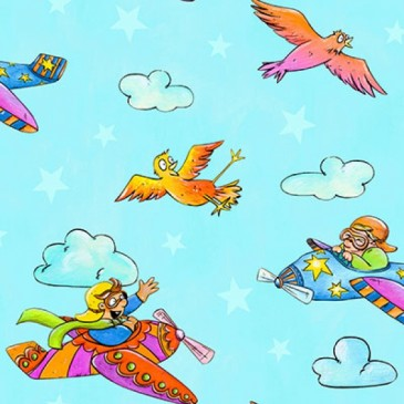 KidsFabrics Fabric DIGFLYFUN.38.140