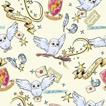 Harry Potter Warner Bros Fabric HEDWIG.110.140